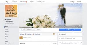 Acoustic Weddings Facebook