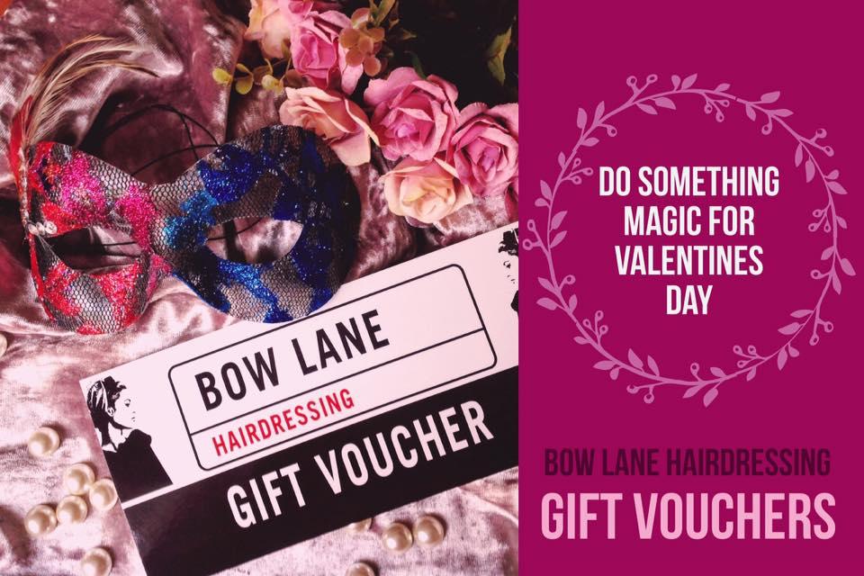 bow lane haidressing valentine's day voucher