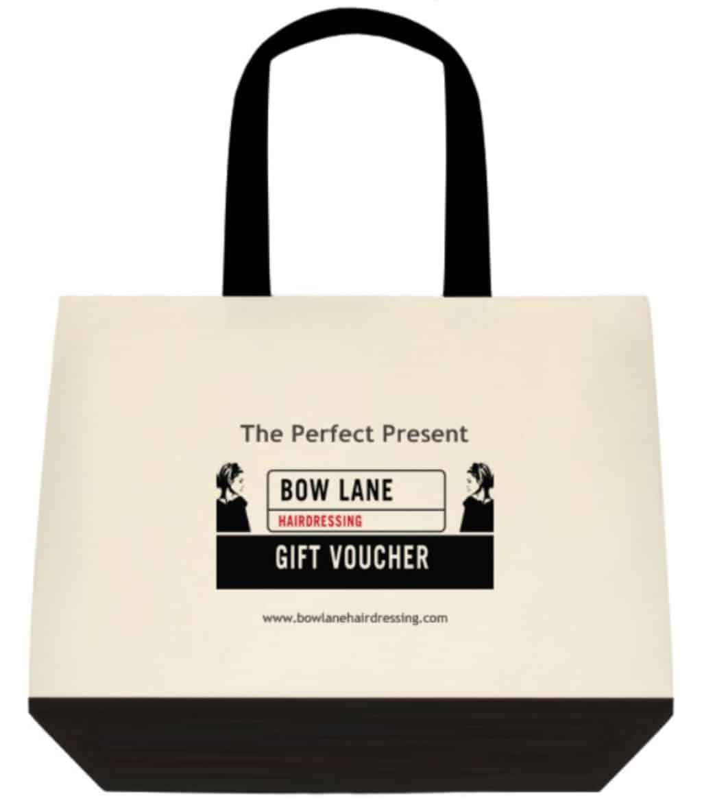 Bow Lane Hairdressing promotional bag