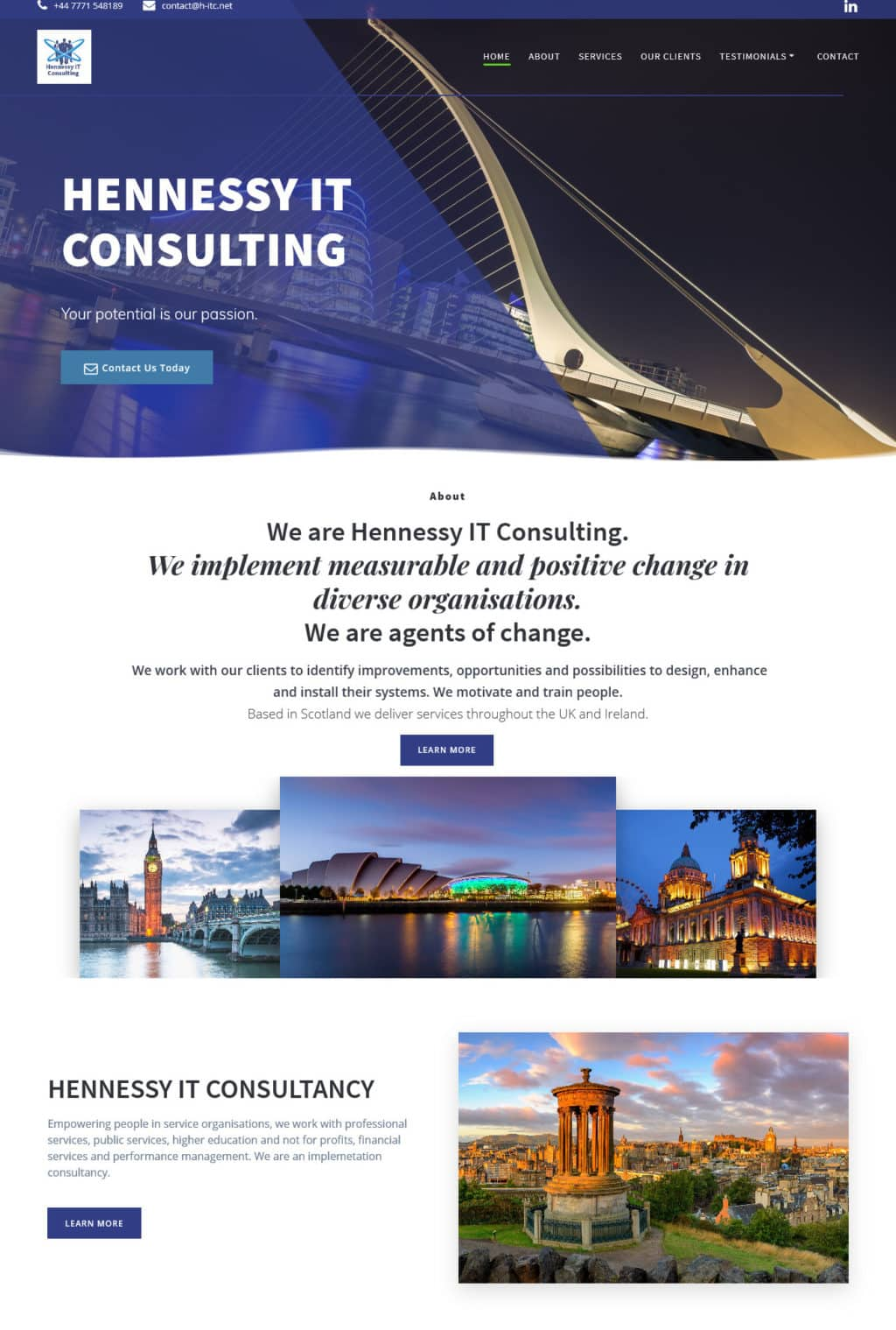 Hennessyitconsulting.com new website