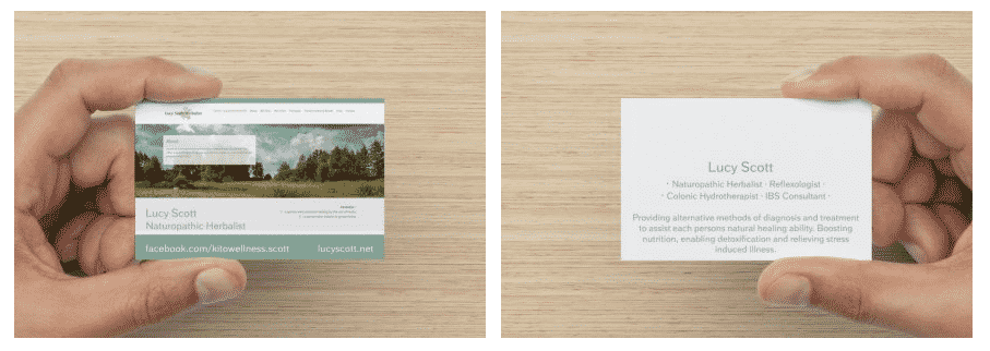 Lucy Scott business card