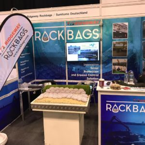 rockbags stand at flood and coast show 2019