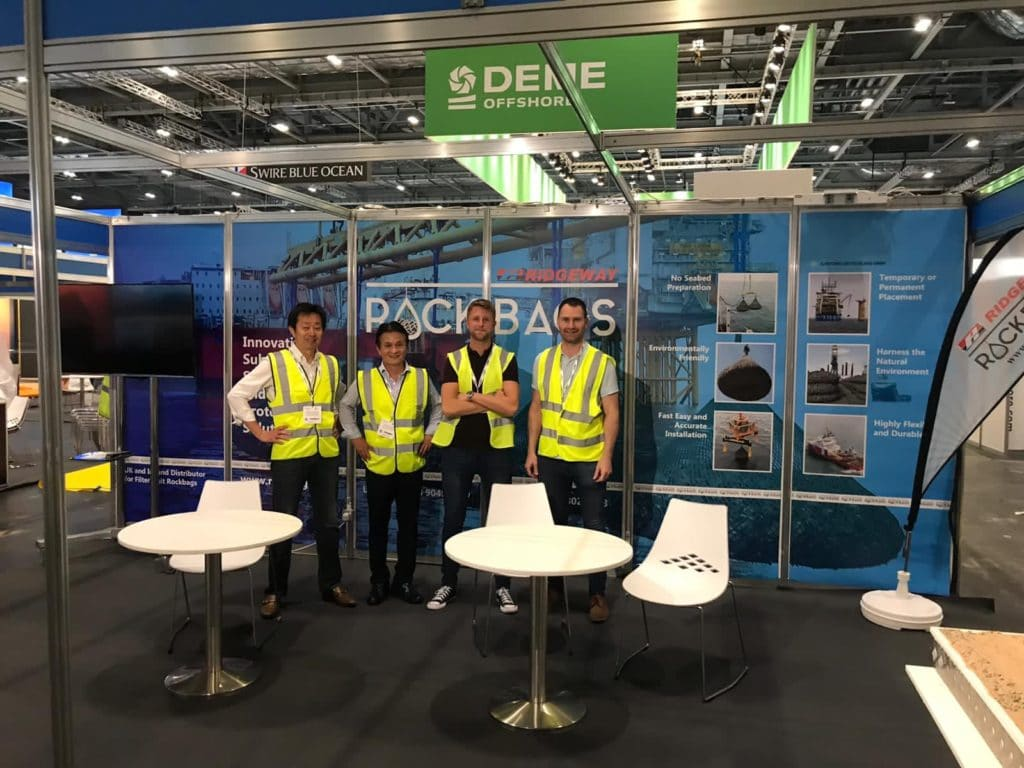 Rockbags team at Global Offshore Wind exhibition 2019