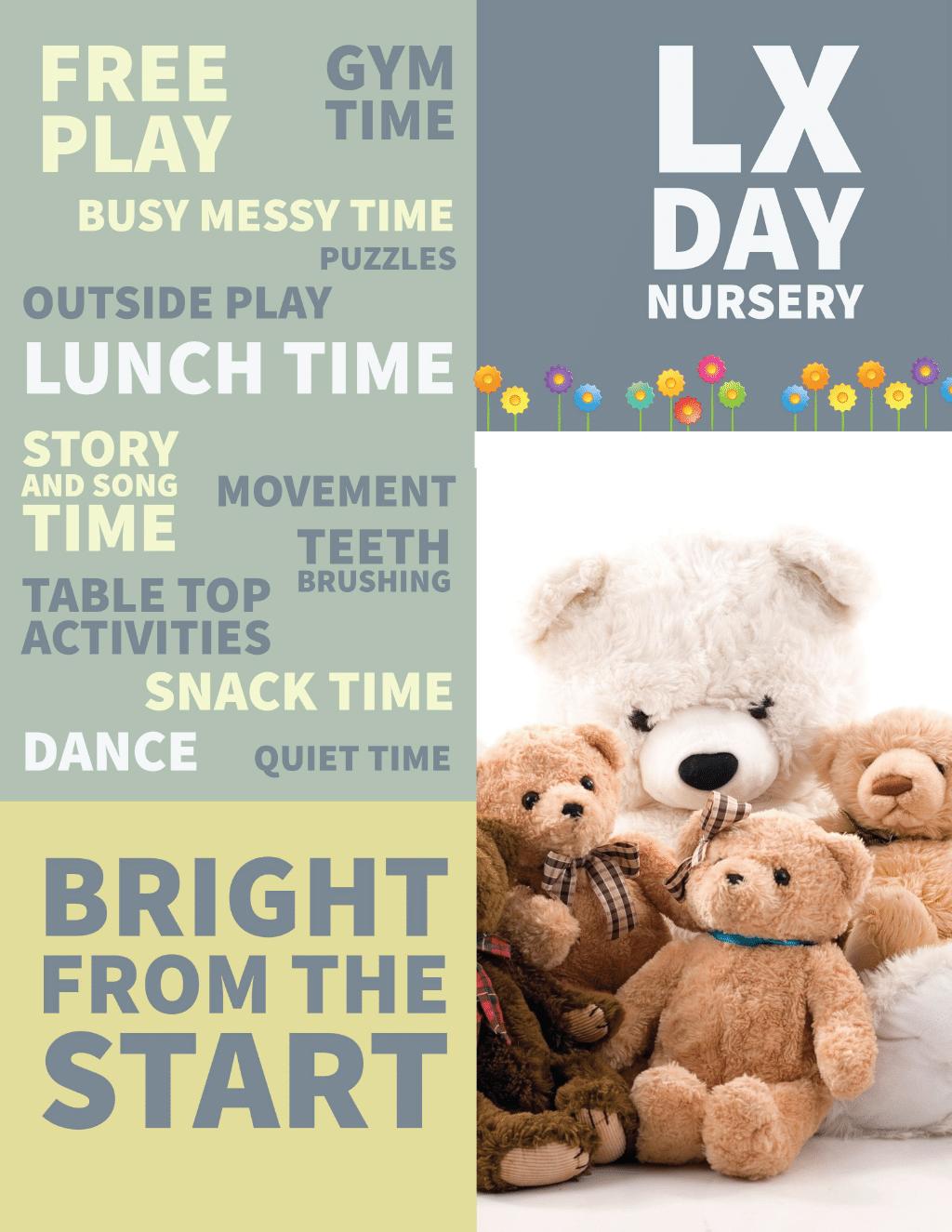 LX Day Nursery poster