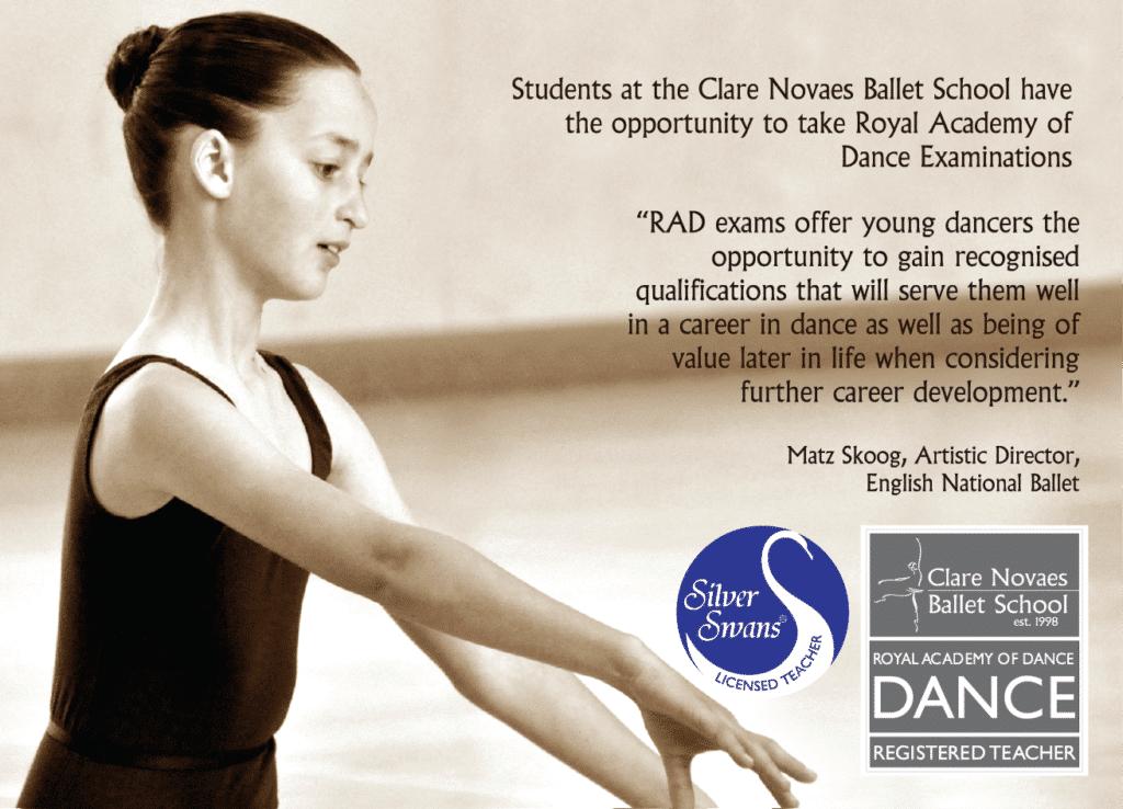 Novaes Ballet School postcard